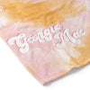 pink and orange tie dye personalized customer soft kid toddler blanket
