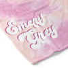pink and peach tie dye soft toddler kid blanket