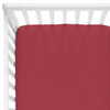 maroon pomegranate crib sheet