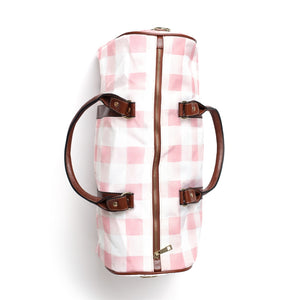 Presley's Pink Plaid Overnight Bags
