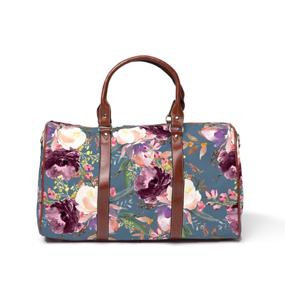 grae's dusty blue floral hospital bag