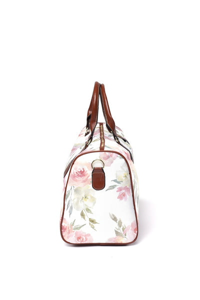 delaney's dusty blush floral overnight bag
