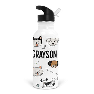 pawfect puppies custom stainless steel kid water bottle