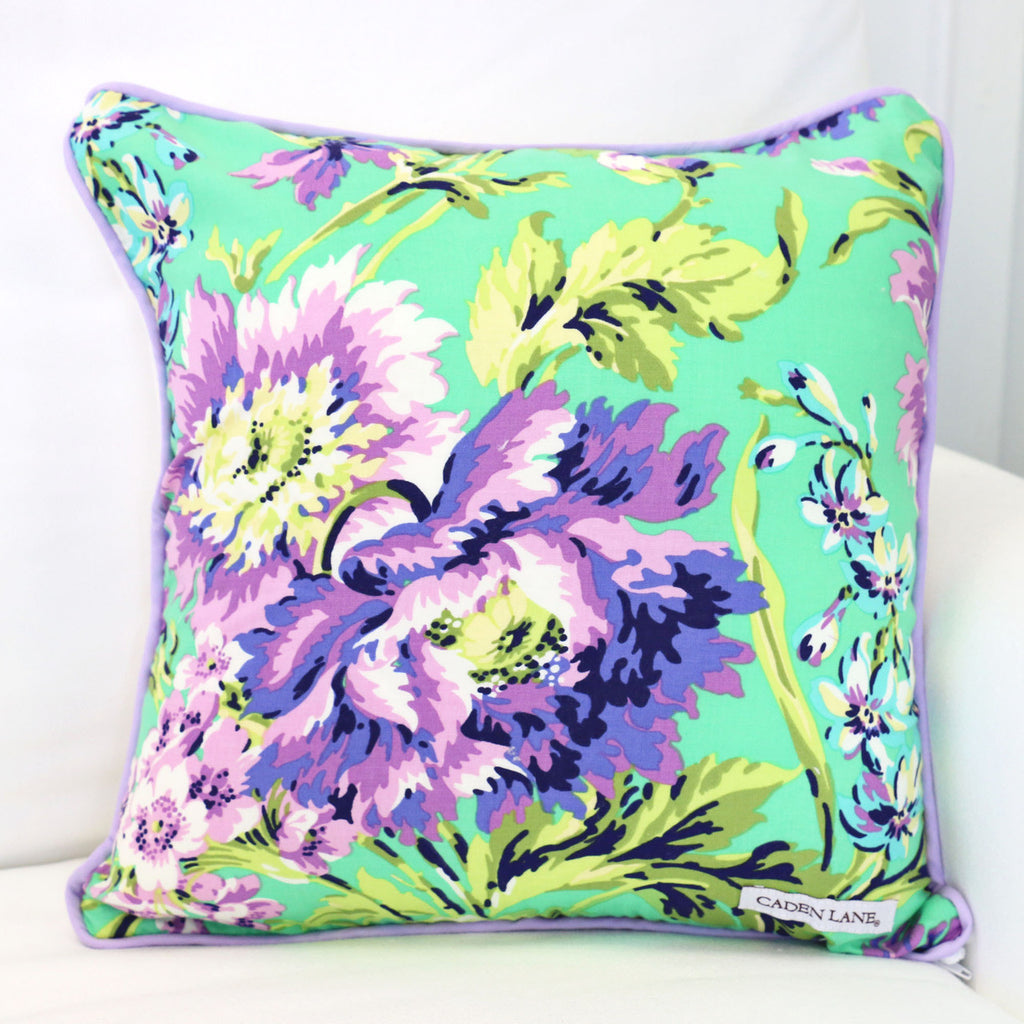 Matching Purple Floral Nursery Accent Pillow