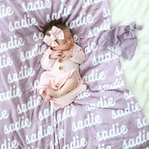 Violet Tones Personalized Color Blanket