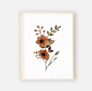 quinn's rust floral digital wall art