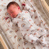 rainbow baby newborn footie