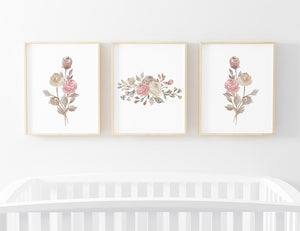 remi's rose vines digital wall art