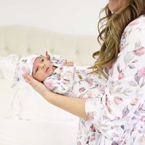Remi's Rose Vines Knit Maternity Robe