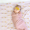 dusty rose mauve personalized swaddle