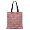 solid dust rose personalized kids custom name tote bag