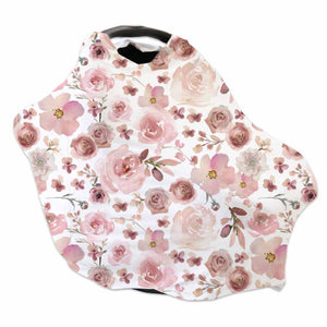 mauve floral stretchy car seat cover