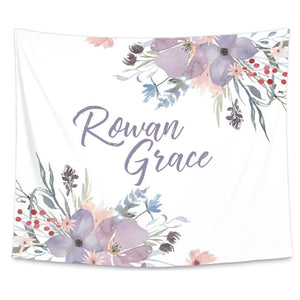 Rowan's Dusty Purple Personalized Wall Tapestry