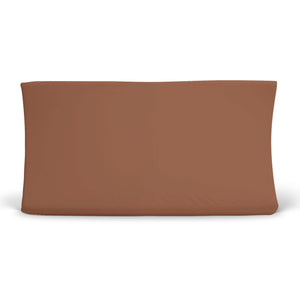 camel rust colored crib sheet