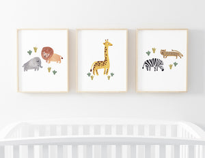 Safari Party Bundled Art Prints