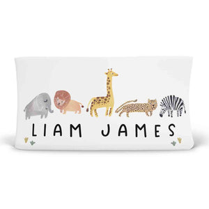 safari party themed changing pad cover personalized