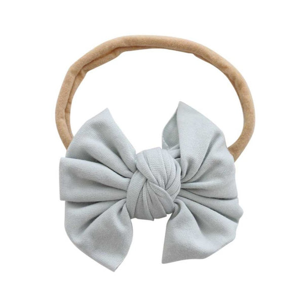 sage green bow headband newborn