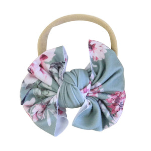 Saylor Floral Knit Bow Headband