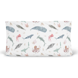 sea animals changing pad cover for the nursery
