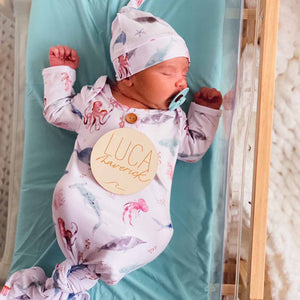 sea life newborn take me home outfit
