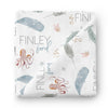 sea life personalized swaddle