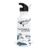 sharks kids personalized water bottle