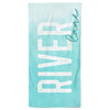Sky Blue Ombre Personalized Kids Beach Towel