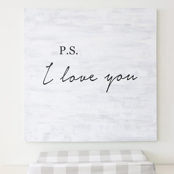 P.S. I Love You Vinyl Decal wall decor for the nursery