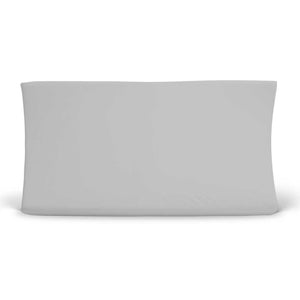 solid light gray changing pad cover bamboo