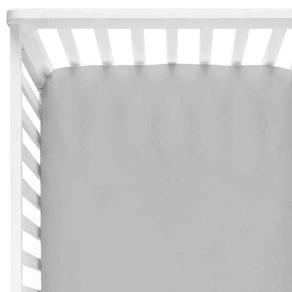 solid light gray crib sheet