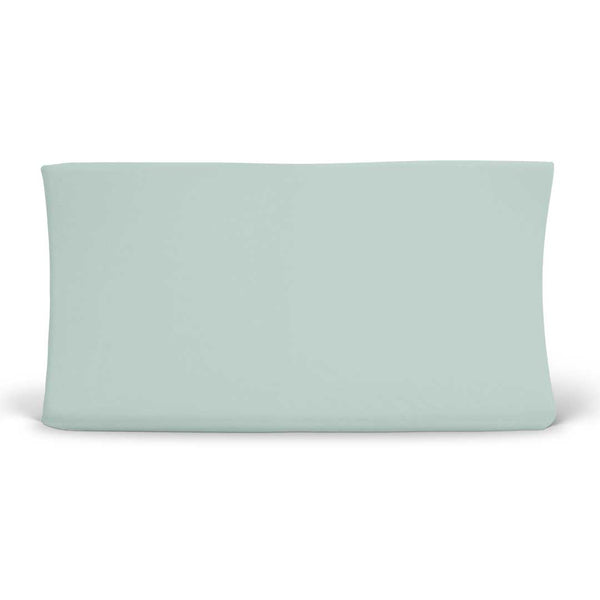 solid sage changing pad cover bamboo