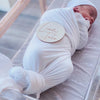 solid white bamboo oversized stretchy swaddle