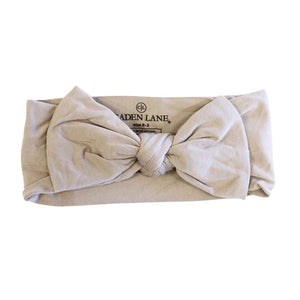 stone stretchy bow headband