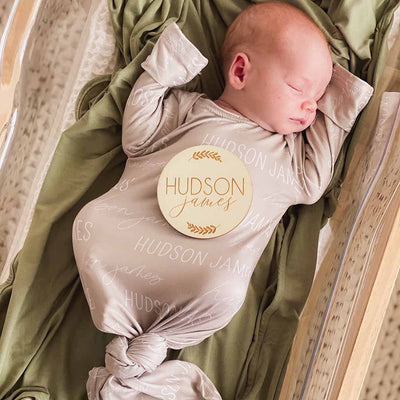stone personalized swaddle baby name