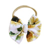 sunflower bow headband