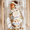 sunflower personalized swaddle