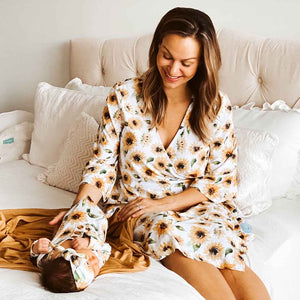 sunflower maternity robe for hospital