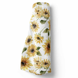 sunflower stroller baby blanket