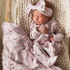 Sweet Daisy in Blush Oversized Swaddle Blanket