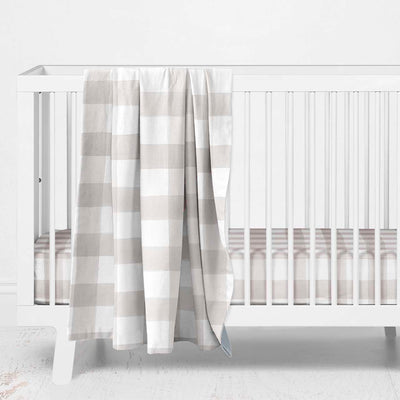 Talon's Taupe Plaid Baby Bedding