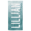 Teal Ombre Personalized Kids Beach Towel