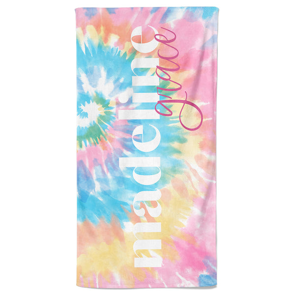 tie die kids beach towel