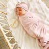 Tiny Hearts in Dusty Pink Oversized Swaddle Blanket