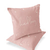 Tiny Hearts in Dusty Pink Custom Name Throw Pillow