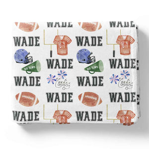 personalized football theme blankets