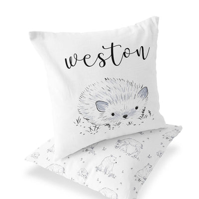 Weston's Woodland Custom Name Throw Pillow