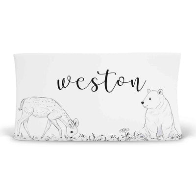 Weston's Woodland Personalized Changing Pad Cover