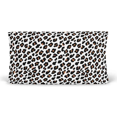 Lila's Leopard Changing Pad Cover