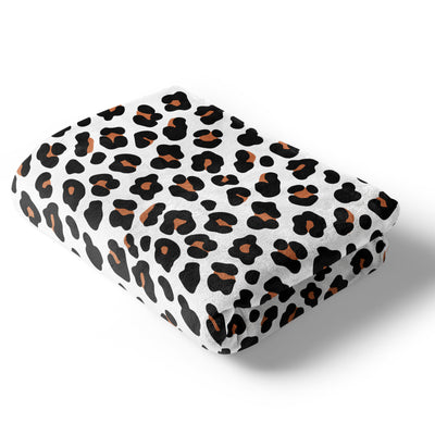 Lila's Leopard Blanket in White and Rust