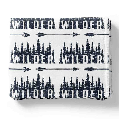 Wilder's Forest Trees Personalized Toddler Blanket